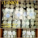 TL-0004 เทียน Tealight แบบธรรมดา ไม่มีสี ไม่มีกลิ่น ใส่ถ้วย pack 10 pcs
