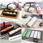 กล่องข้าวญี่ปุ่น กล่องข้าวอุ่นไมโครเวฟได้ กล่องยาว มี 2 ชั้น พร้อมตะเกียบในกล่อง