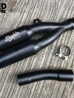 ท่อแต่งปลายคู่ Diablo Custom Works แบบยาว. For Honda Rebel 500