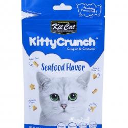 Kit Cat คิตตี้ครันชี่ รสซีฟู้ด ขนมแมวกรุบกรอบ 4 รูปทรงเคี้ยวสนุก ช่วยขัดฟัน ขับก้อนขน (60g)