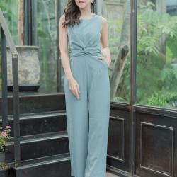 JS0026 เสื้อผ้าแฟชั่น เสื้อผ้าเกาหลี ชุดจั๊มสูท จั๊มสูทขายาว จั๊มสูทกางเกง ชุดออกงาน ชุดทำงาน แขนกุด เสื้อผ้า เสื้อสวย อินเทรนด์ ทันสมัย น่ารัก เกรด A เกรดเอ ชุดจั๊มสูท จั๊มสูทขายาว จั๊มสูทกางเกง