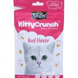 Kit Cat คิตตี้ครันชี่ รสเนื้อ ขนมแมวกรุบกรอบ 4 รูปทรงเคี้ยวสนุก ช่วยขัดฟัน ขับก้อนขน (60g)