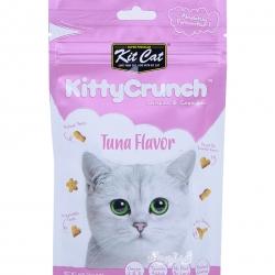 Kit Cat คิตตี้ครันชี่ รสปลาทูน่า ขนมแมวกรุบกรอบ 4 รูปทรงเคี้ยวสนุก ช่วยขัดฟัน ขับก้อนขน (60g)