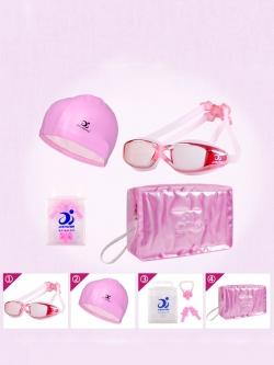 ชุดอุปกรณ์ว่ายน้ำเซตสีชมพู