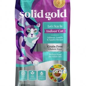 Solidgold Let's Stay In, Indoor Cat Salmon อาหารเกรดโฮลิสติก สำหรับแมวเลี้ยงในบ้านสูตรแซลมอน(1.36kg)