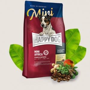 Happy Dog Mini Africa อาหารสุนัขโต พันธุ์เล็ก (เม็ดเล็ก) สำหรับสุนัขแพ้อาหาร แพ้ง่ายมาก 300g