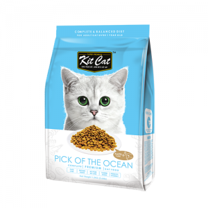 Kit Cat Pick Of The Ocean อาหารแมวสูตรแมวเป็นนิ่ว มีปัญหาทางเดินปัสสวะ (Urinary Care) (1.2kg)