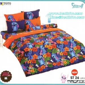 ชุดเครื่องนอน ผ้าปูที่นอน toto ลายสติทซ์ ST26
