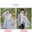 Pre-Order เสื้อคลุมคู่รัก ไหมพรมตัวยาว สีเทา ปักลายแพนด้า/กอไผ่ thumbnail 5