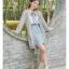 Pre-Order เสื้อคลุมคู่รัก ไหมพรมตัวยาว สีเทา ปักลายแพนด้า/กอไผ่ thumbnail 14