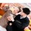 Pre-Order เสื้อฮู้ดคู่รัก แต่งสายรัดเข็มขัดที่คอและแขน thumbnail 9