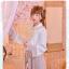 Pre-Order กระโปรงพลีตสั้นสีชมพู มีผ้าคาดเอวแต่งเชือกพู่ thumbnail 3