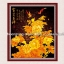 ดอกไม้สีทอง+นก ชุดปักครอสติช พิมพ์ลาย งานฝีมือ thumbnail 1