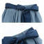 Pre-Order กระโปรงผ้าฝ้ายดิบสีน้ำเงินปักลายดอกไม้ มีผ้าผูกเอว thumbnail 16