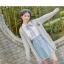 Pre-Order เสื้อคลุมคู่รัก ไหมพรมตัวยาว สีเทา ปักลายแพนด้า/กอไผ่ thumbnail 8
