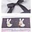 Pre-Order เสื้อยืดแขนสั้นผูกโบว์สีดำ ลายกระต่ายคู่รัก thumbnail 18
