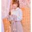 Pre-Order กระโปรงพลีตสั้นสีชมพู มีผ้าคาดเอวแต่งเชือกพู่ thumbnail 12