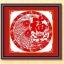 ปลาคู่สีแดง ชุดปักครอสติช พิมพ์ลาย งานฝีมือ thumbnail 1