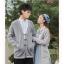 Pre-Order เสื้อคลุมคู่รัก ไหมพรมตัวยาว สีเทา ปักลายแพนด้า/กอไผ่ thumbnail 10