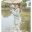 Pre-Order กระโปรงสั้นเอวแต่งระบาย ปักลายเถาวัลย์ ผ้าWool สีเขียวอ่อน thumbnail 16