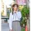 Pre-Order กระโปรงพลีตยาวลายตาราง เอวยางยืด thumbnail 15