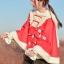 Pre-Order ผ้าคลุมฮู้ดหูกระต่ายขนสัตว์ กระดุมจีน มี2สี 2 ลาย thumbnail 9