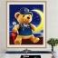 หมีน้อย ครอสติสคริสตัล Diamond painting ภาพติดเพชร งานฝีมือ DIY thumbnail 2