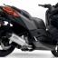 Arrow Slip on Aluminium-Black (heat guard) YAMAHA X-MAX 300 19500 thumbnail 3