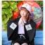 Pre-Order เสื้อคลุมแขนกว้างสไตล์ญี่ปุ่น พิมพ์ตัวอักษรและลายราเม็ง thumbnail 3