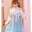 Pre-Order กระโปรงมิดิชายระบายแต่งผ้าโปรง แต่งสายคาดสไตล์จีนโบราณ thumbnail 2