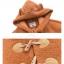 Pre-Order ผ้าคลุมฮู้ดมีหูขนสัตว์ตัวสั้น สีน้ำตาล thumbnail 17