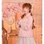 Pre-Order กระโปรงสั้นเอวยางยืดปักลายดอกไม้ พร้อมสายคาดเอวสีหวาน thumbnail 14