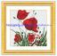 ดอกไม้สีแดง ชุดปักครอสติช พิมพ์ลาย งานฝีมือ thumbnail 1