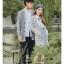 Pre-Order เสื้อคลุมคู่รัก ไหมพรมตัวยาว สีเทา ปักลายแพนด้า/กอไผ่ thumbnail 12