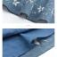 Pre-Order กระโปรงผ้าฝ้ายดิบสีน้ำเงินปักลายดอกไม้ มีผ้าผูกเอว thumbnail 19
