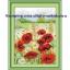 ดอกสีแดง ชุดปักครอสติช พิมพ์ลาย งานฝีมือ thumbnail 1