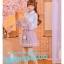 Pre-Order กระโปรงพลีตสั้นสีชมพู มีผ้าคาดเอวแต่งเชือกพู่ thumbnail 7