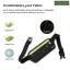 กระเป๋าคาดเอววิ่งกันน้ำ แบบบาง สีเขียวสะท้อน ใส่มือถือได้ทุกรุ่น thumbnail 5