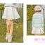 Pre-Order กระโปรงสั้นผ้าWool สีขาว ปักลายเถาวัลย์ thumbnail 13