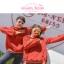 Pre-Order สเวตเตอร์ฮู้ดคู่รัก พิมพ์ลาย PLANET / THE SUN สีแดง thumbnail 17