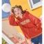 Pre-Order สเวตเตอร์ฮู้ดคู่รัก พิมพ์ลาย PLANET / THE SUN สีแดง thumbnail 16