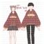 Pre-Order สเวตเตอร์ฮู้ดคู่รัก พิมพ์ลาย PLANET / THE SUN สีแดง thumbnail 4
