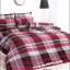 ชุดเครื่องนอน ผ้าปูที่นอน ลายสก๊อต สีแดง TT501