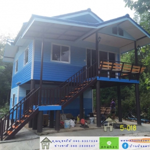 5-018 บ้านน็อคดาวน์ ทรงจั่วมุกซ้อน