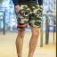 กางเกงขาสั้น พรีเมี่ยม ผ้า วอร์ม รหัส WT 279 BR สีทหาร แถบ ดำ แดง thumbnail 4