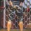 กางเกง Jogger ขาจั๊มสามส่วน พรีเมี่ยม ผ้า วอร์ม รหัส WT 379 BB สีทหาร แถบ ดำ thumbnail 3