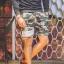 กางเกงขาสั้น พรีเมี่ยม ผ้า วอร์ม รหัส WT 279 WW สีทหาร แถบ ขาว thumbnail 2