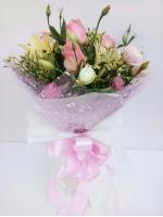 ช่อดอกไม้ กุหลาบชมพู-ลิลลี่ รหัส 1059