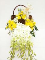 กระเช้าดอกไม้ Sweet White รหัส 2050