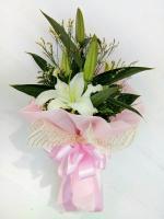 ช่อดอกไม้ ลิลลี่ขาวเล็ก รหัส 4710